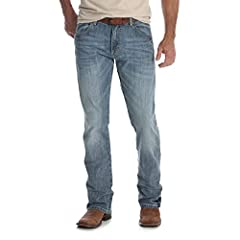 Wrangler Men's Retro Slim Boot Cut Jean. This Retro jean was designed with style in mind. An everyday staple built with a slim fit, this Retro jean is a classic that never goes out of style. Great for a night on the town or out to dinner, thi...