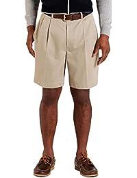 Men's 55520 Pleat-Front Lightweight Advantage Shorts, Natural