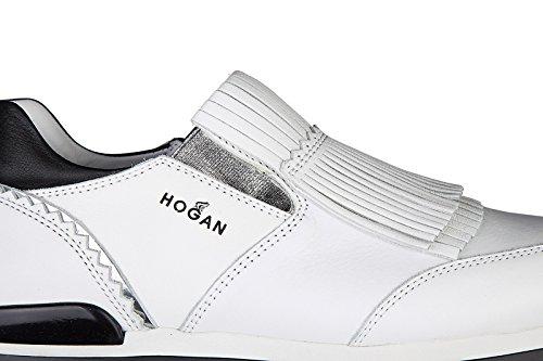 Hogan scarpe sneakers donna camoscio nuove h222 25mm sole grigio
