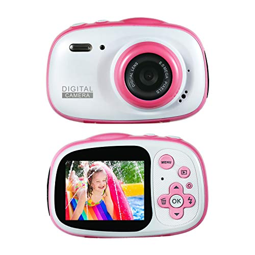 Flash Mic and 8G SD Card And Batteries Included Easy to Use for Children(Black) LordFord Underwater Camera for Kids 12MP HD Photo Resolution Underwater Camcorder with 8X Digital Zoom