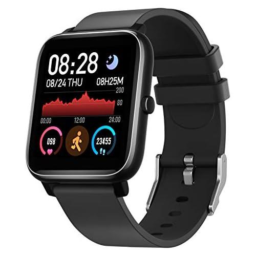 chollos oferta descuentos barato IDEALROYAL Smartwatch P22 Reloj Inteligente Impermeable con Monitor de Frecuencia Cardíaca Monitor de Sueño Podómetro de Seguimiento de Actividad Física con Pantalla Táctil para Android iOS