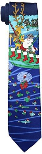 Hallmark Men's Fishing Santa-red, Navy, One Size