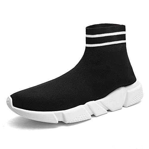 Women's Fashion Sneakers, Men's Ultra Lightweight Breathable, Casual Athletic Running Shoes Knitted Socks Shoes Black 45 EU/12US-Women/11US-Men - Ladies Knitted Mesh Hat