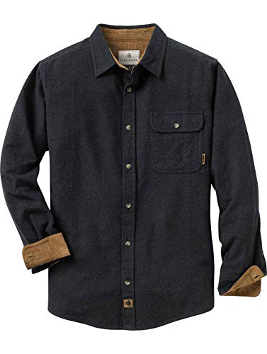 (Legendary Whitetails Men's Buck Camp Flannels Black Heather Medium)