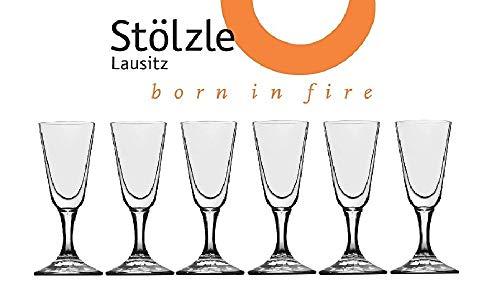 (Stölzle Lausitz Crystal Cordial Liquor Shot Glasses, 1 Ounce, 4