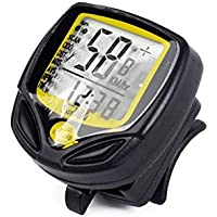 Noondl Bike Speedometer Mph Odometer Measures Cycle Mileometer with its Spin Bike Computer function adds this Bike computers Wireless Cycling accessory uses cr2032 battery to make your bycicles Riding more Enjoyable