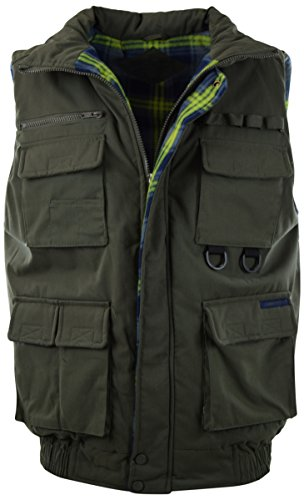 (ChoiceApparel Mens Basic Padded Windbreaker Puffer Vests (Many Styles to Choose from) (XL, 1322-OLIVE))
