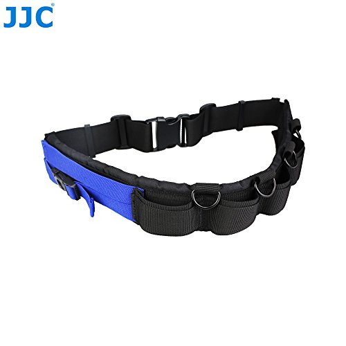JJC Multi-function Lightweight Durable Deluxe Technical Photography Belt Fits JJC DLP Lens Pouch for Photographers