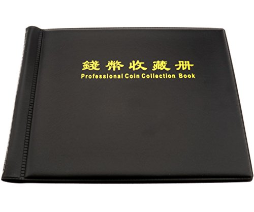 240 Coin Collection Holders Storage Money Penny Pockets Album Black Books