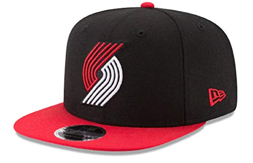 - Authentic Portland Trailblazers Black & Red Original Fit 2Tone NBA Team Color Cap Adjustable Hat 9Fifty Snapback