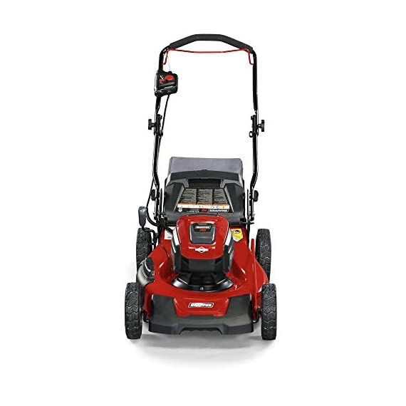Snapper HD 48V MAX Cordless Electric 20-Inch Lawn Mower Kit with (1) 5.0 Battery and (1) Rapid Charger 5 Up to 90 minutes of run time with 5. 0 Battery under light loads** 3-in-1 mulch/bag/side-discharge options on 20-inch steel deck Intelligent load sensing technology - allows for optimum power levels while you mow for maximum efficiency