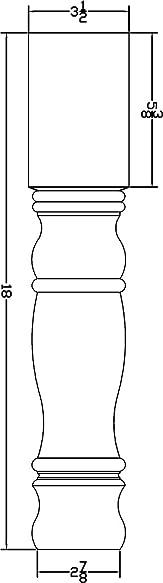 Square Bedford Coffee Table Leg