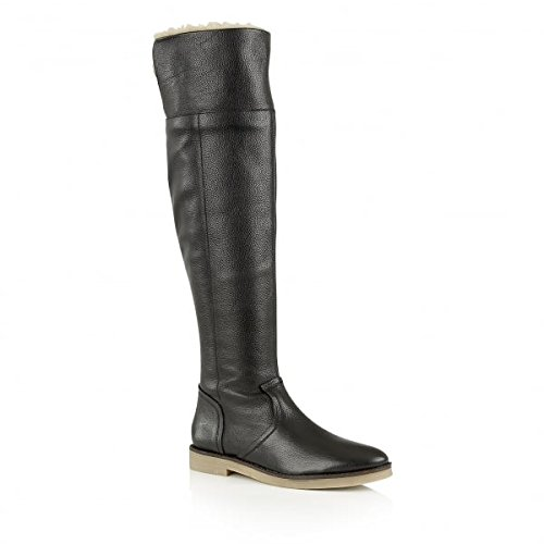 Ravel Briscoe Knee High Black Leather Boots zbvW5