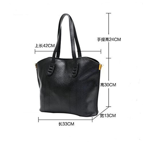 para Gran Mujer viaje de 1 Sucastle 1 Bloqueo Genuino hombro Hecho Capacidad Genuina y Mano RFID a Cuero Ideal trabajo bolsos YgdxqdZ