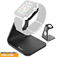Apple Watch Stand, Alpatronix® Apple Watch Charging Stand [WX100] / Docking Station [Aluminum Premium Grade iWatch Holder / Charger Dock / Cradle - 100% Fully Compatible with 38mm & 42mm Apple Watch, Apple Sport and Apple Edition 2015 / Does NOT inclu