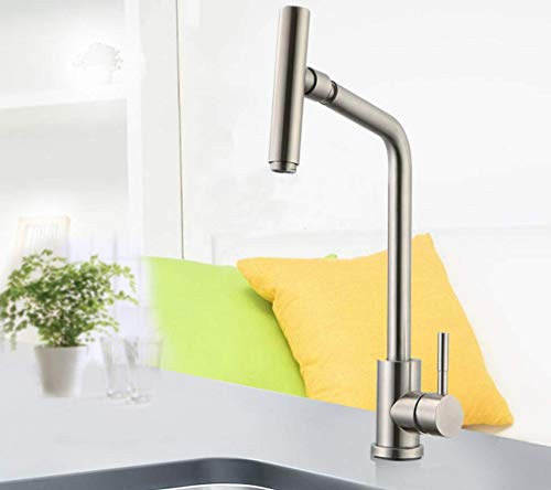 Kitchen Faucet Kitchen Sink Hot and Cold Water Faucet Stainless Steel Faucet Single Kitchen Faucet