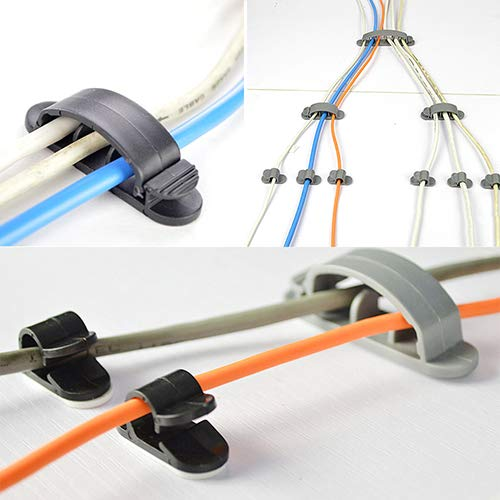 yanQxIzbiu 10 Pcs Cable Cord Wire Line Organizer Plastic Clips Ties Fixer Fastener Holder