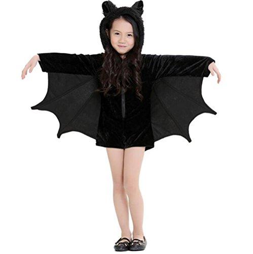 Batman 52 Costume (Halloween Vampire Uniforms Batman Cosplay Masquerade Costume for kids (M))