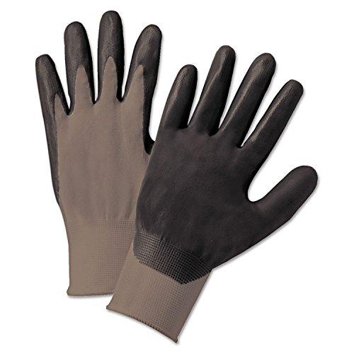Anchor Brand ANR 6020L 6020-L Nitrile Coated Gloves, Nylon Knit, Gray/Dark Gray, Large (Pack of 12)