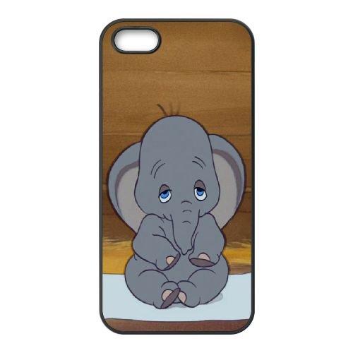 Dumbo 006 iPhone 5 5S Fall hülle Abdeckung Schwarz Handy Tasche EOKXLLNCD18303