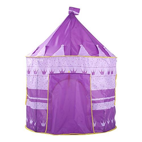 Sviper Kids Play Tunnels Creative Crown Play Tent Kids Children Indoor Foldable Toys Playhouse Purple Pop Up Tunnel Gift Toy by Sviper (Image #3)