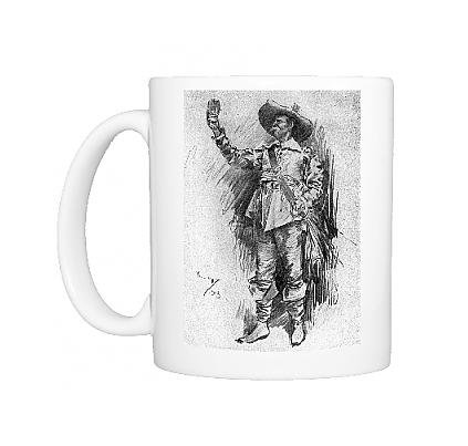 Photo Mug of Early 20th century actor in the role of a Cavalier (Restoration Theatre Costumes)