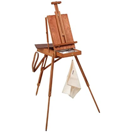 Image of Arts & Crafts Supplies Martin Jullian Original -Style Full Size Wooden French Sketch Box Easel
