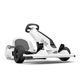 Segway Ninebot Electric GoKart Drift Kit, Pedal Racer Outdoor Car, Ride On Toys, requiere Segway miniPRO o Ninebot S (se vende por separado), Blanco