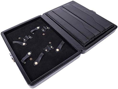 N A Poetance Schere Aufbewahrungskiste, Aufbewahrungsbox für Friseurwerkzeuge, aus Rindsleder,24.5x19.5x4.5cm