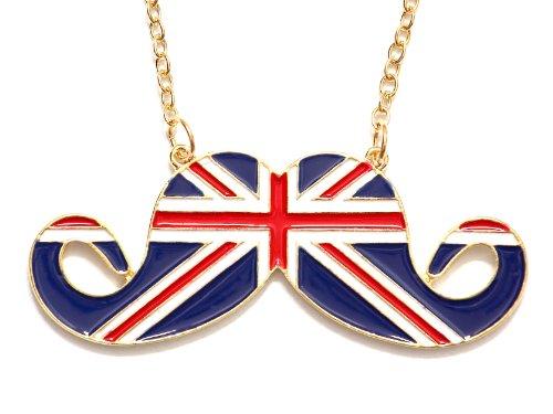 british mustache necklace - 1