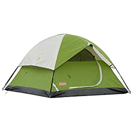 Coleman Sundome 3 Person Tent 8 The three-person dome design is quick and easy to set up Spacious interior, room to move Dome design for quick setup, 10 minutes