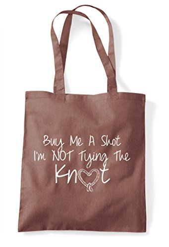 Chestnut Tote To Bride Bag Party Hen I'm Me Shopper Personalised The Tying Do Be Buy Shot Customised Knot A wpRqU