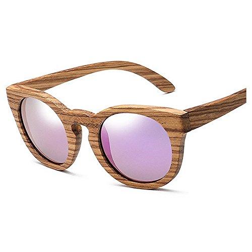 de de para Gafas de madera Gafas los sol Gafas hombres clásicas de polarizadas Gafas unisex sol ojos sol de de los sol Púrpura la de los de sol de mujeres de UV Gafas gato marcos Retro protección las la de de qtw0dvv