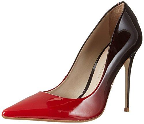 Bronx Bx 1209 Briox - Tacones Mujer Mehrfarbig (Red-Black)