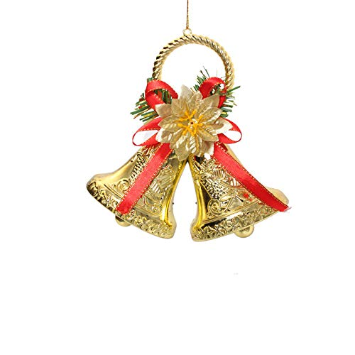 christmas ornaments christmas bells gold jungling bells christmas decorations festive party holiday home decorations - Christmas Bells Decorations