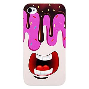 QJM Big Mouth Ice Cream Soft Case for iPhone 4/4S