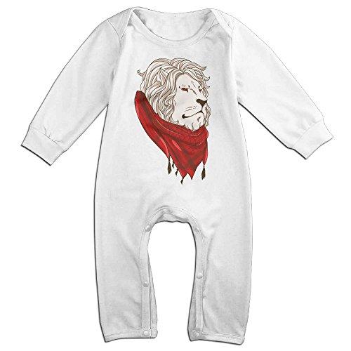 [Raymond Keffiyeh Lion Long Sleeve Bodysuit Outfits White 24 Months] (Brad Pitt Costume Ideas)