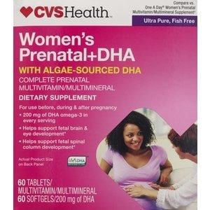 CVS DHA Prenatal Multivitamin 2 Step Program Tablets - 60 day