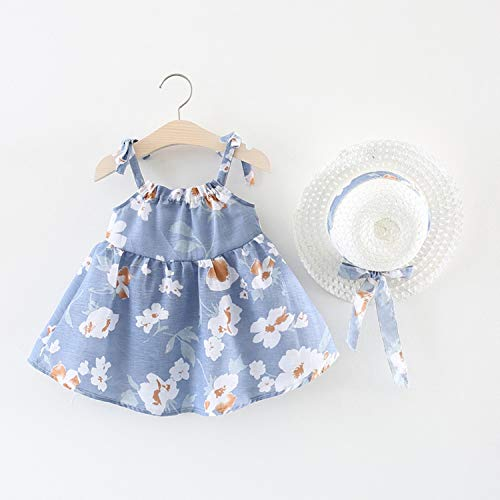 Lovescenario New Children Baby Girls White Magnolia Dress Female Baby Girls' Fresh Sling Spaghetti Strap Casual Swing Princess Dress