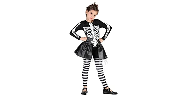 Súper lujo infantil de disfraces de Halloween esqueleto de niña ...
