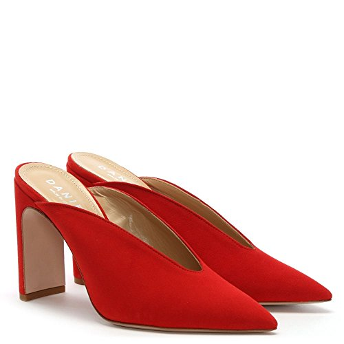 Nickels Daim Red Mules A Rouge Souligné Daniel Toe Suede P5wxvpx