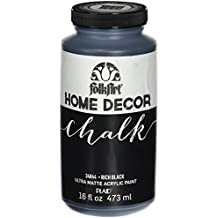 FolkArt Home Decor Chalk Furniture & Craft Paint in Assorted Colors (16 Ounce), 34844 Rich Black
