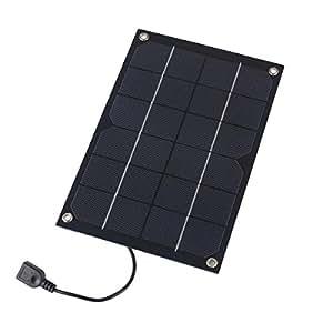 Amazon Com 6w 5v 1 2a Portable Solar Panel Battery
