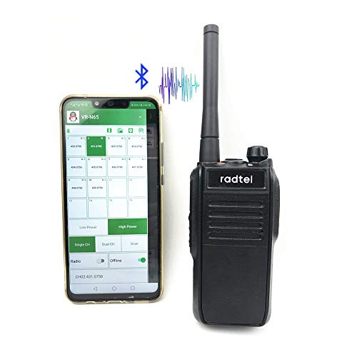 radtel N65 Network Smart Walkie Talkie (Free, No Sim Card Needed) Nationwide Coverage 1500+ Miles Internet Two Way Radios (Bluetooth, GPS, -