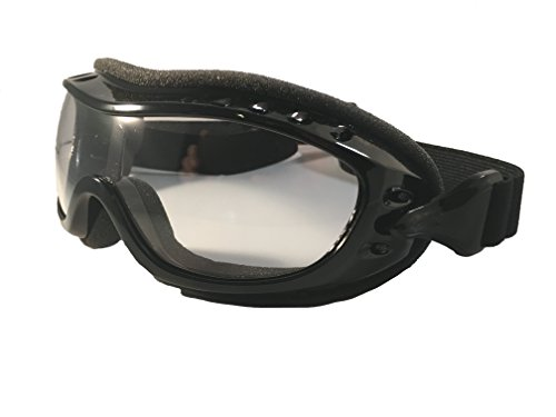 Fit Over Glasses Motorcycle Riding Goggles - Clear Lens - Cycle Clear Model ZO2