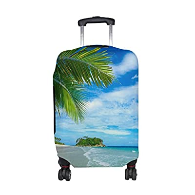 Sea Beach Ocean View Luggage Cover Travel Suitcase Protector Fits 18-21 Inch Luggage free shipping