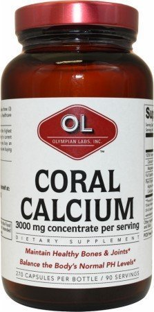 (Olympian Labs Coral Calcium - 1 g - 270 Capsules - pack of - 1)