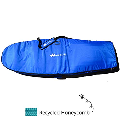 Eco Surfboard Travel Bag, More Padding, 26M Nose & Tail. Your Boards Arrive Safe. Fits 2-3 Surfboards. International Surfers Choice Award, 2 Pockets, Designed by California Surfers,Better Bags ESPN