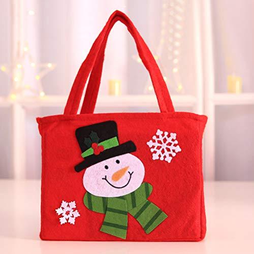 Del De Fiesta La 3pcs Bolso Caramelo Nieve Bestoyard Copo Navidad Muñeco Decoración aFqfSf