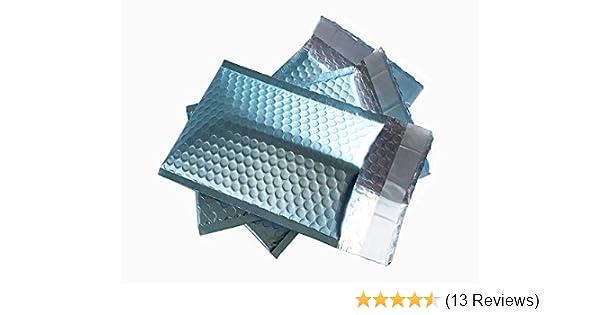 ProLine Matte Metallic Black Bubble Padded Mailers 6x10 Inch Self Seal Padded Envelopes 500